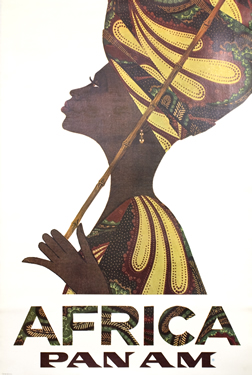 Artist Unknown poster Pan Am - Africa (woman in kaftan)